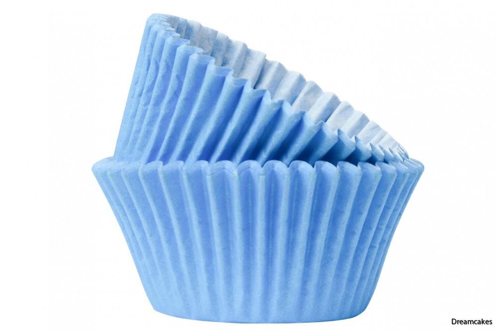 Vackra blå muffinsformar/cupcakesformar för dopet eller andra festliga tillfällen