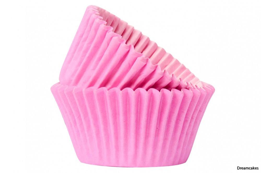 Fina rosa muffinsfomar/cupcakeformar för dopmuffins och bröllopscupcakes