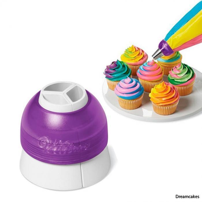 så här spritsar du fler färger på din cupcake/muffins på samma gång