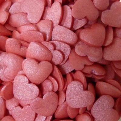 Strössel Röda glimrande hjärtan