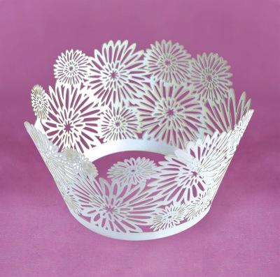 Dahlia cupcake wraps lace