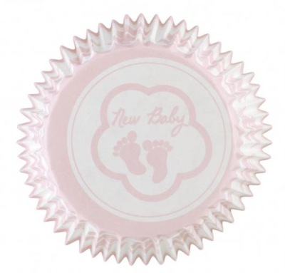 Muffinsform - Rosa babyfötter