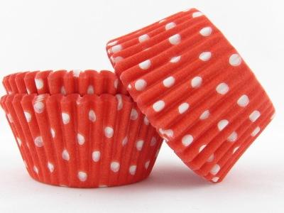 Minimuffins - Red polka dots