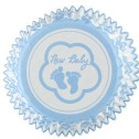 Muffinsform - Blå babyfötter