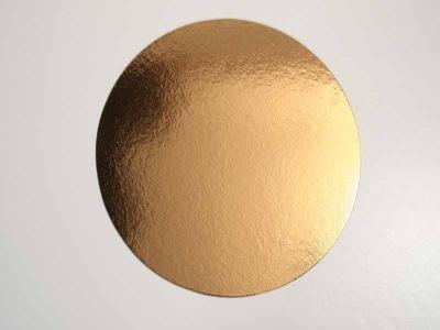 Guld/Silverbricka 34 cm