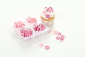 Söta tårtdekorationer för muffins och cupcakes hittar du här!