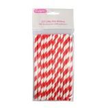 Randiga cakepopspinnar - Röda