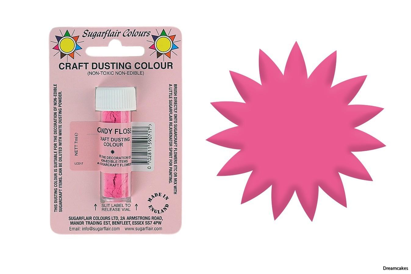 Pulverfärg i rosa för tårtdekorationer