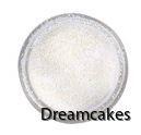 Läckert vitt glitter för tårtdekorationer