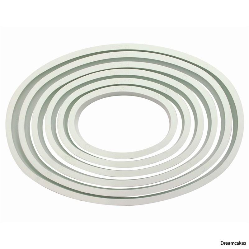 Ovala utstickare för ätbara tårtdekorationer