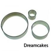 Runda pepparkaksformar/metallutstickare i 3 olika storlekar
