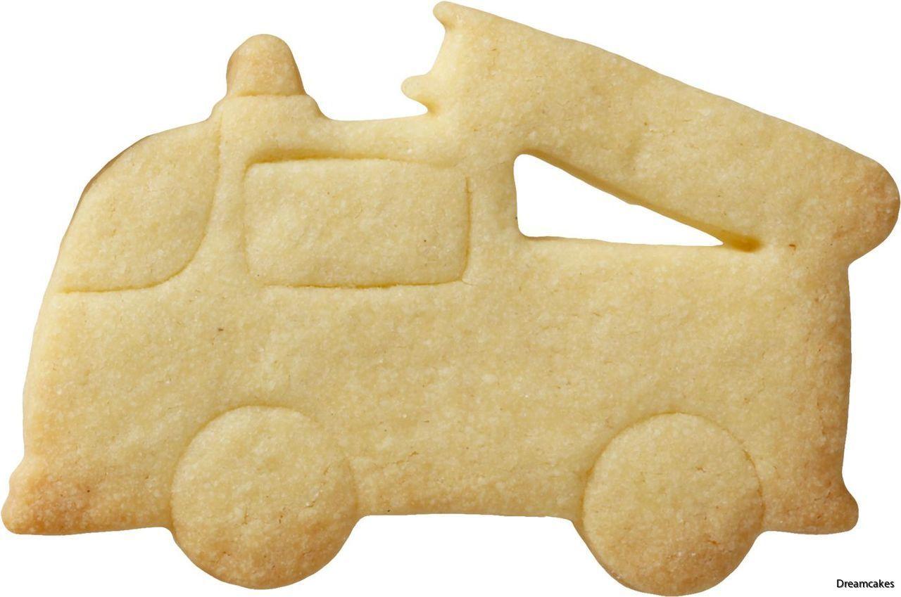 Kakform med brandbil för tårtdekorationer och kakor.