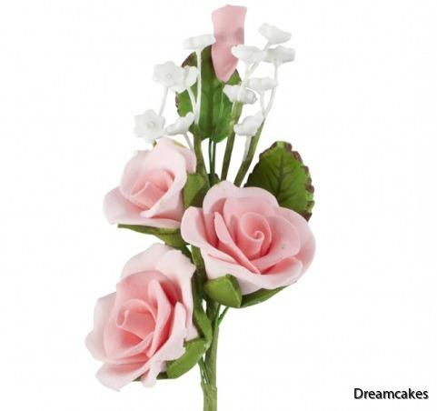 Ätbara rosor till bröllopstårtan eller festtårtan