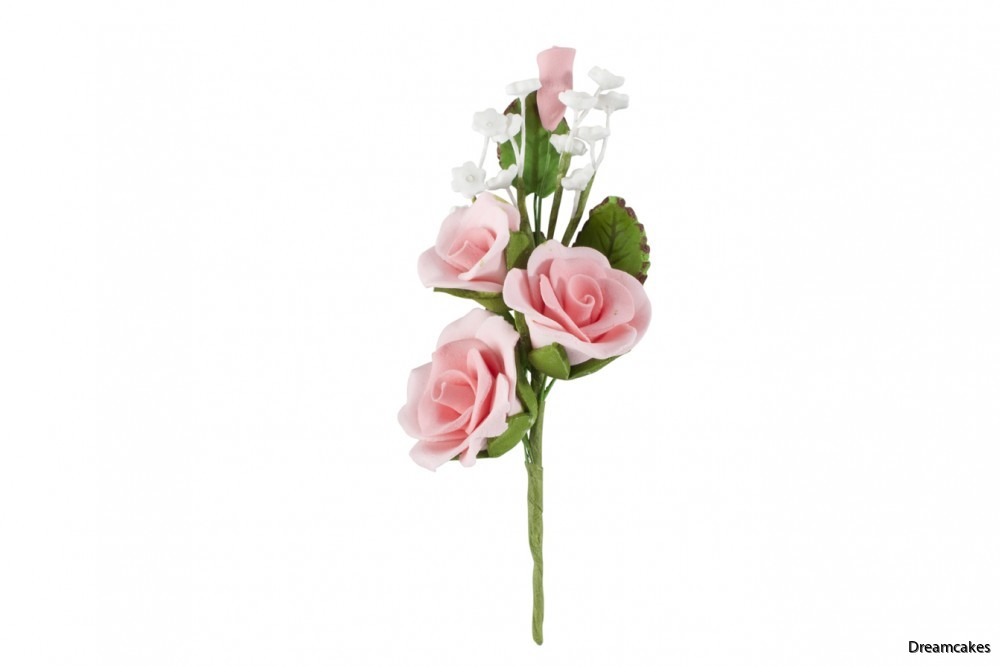 Vacker ätbar rosbukett för tårtdekoration och bröllop