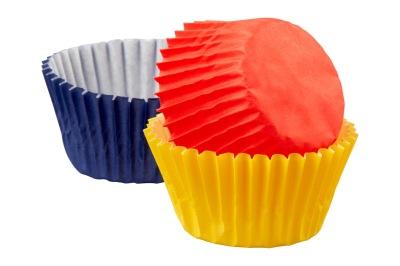 Minimuffins - Blå/Röd/Gul