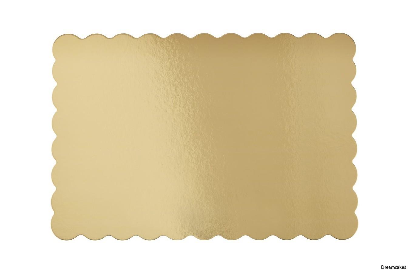 Guldfärgade tårtfat i 3-pack