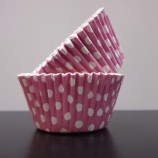 Muffinsform - rosa prickig