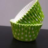 Muffinsform - grön prickig