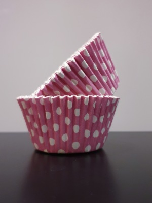 Muffinsform - rosa prickig - Muffinsform - rosa prickig