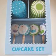 Cupcakes set - blå