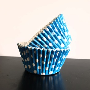 Muffinsform - Blå prickig - Muffinsform -blå prickig