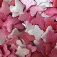 Strössel - Fjärilar i rosa toner