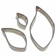 Utstickarset i metall - Lövform, begagnat