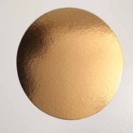 Guld/Silverbricka 26 cm