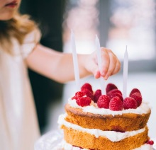 Tårtljus på tårtan vill alla barn ha!