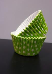 Muffinsform - grön prickig - Muffinsform - grön prickig