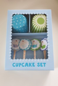 Cupcakes set - blå -