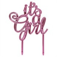Cake Topper- It`s a girl