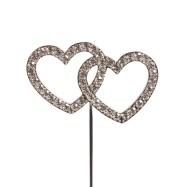 Cake Topper- Diamant Hjärtan