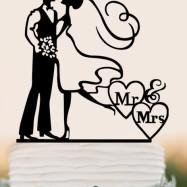 Brudpar  - Svart siluett