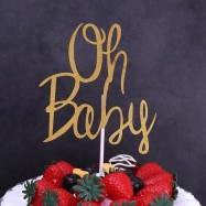 Cake Topper- Oh Baby