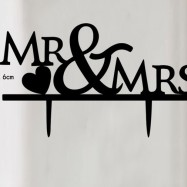 Mr & Mrs  - Svart siluett