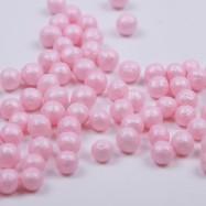 Mjuka pärlemopärlor 4mm - Rosa