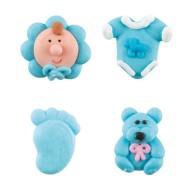 Sockerfigurer - Baby Blå
