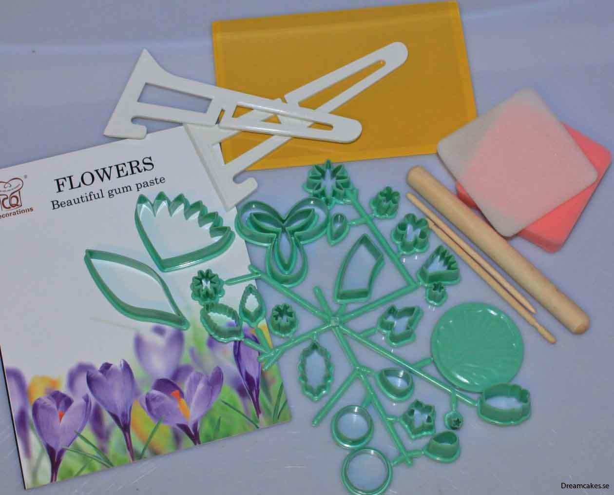 Stort set utstickare för sockerblommor/sugarflowers