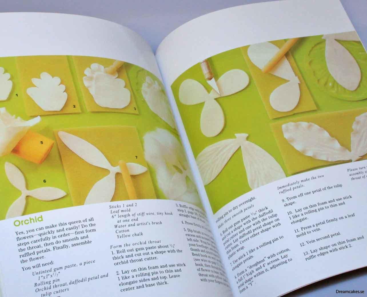 Enkla instruktioner med bild på hur du enkelt gör sockerblommor till tårtan