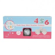 Cake Star Push Easy Mini Numbers