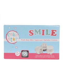 Cake Star Push Easy mini Uppercase Alphabet Cutters