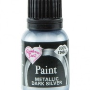 Rainbow Dust Paint - Metallic Dark Silver
