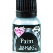 Rainbow Dust Paint - Metallic Light Silver
