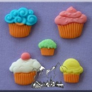 Alphabets Moulds - Cup cakes