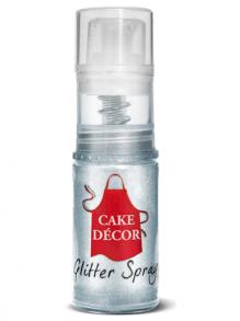 Cake Decor - Silver Spray Glitter