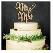 Mr & Mrs caketopper