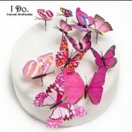 Fjärilsdecor - Rosa