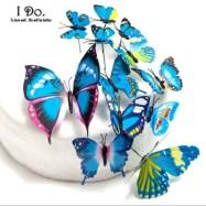 Fjärilsdecor - Blå