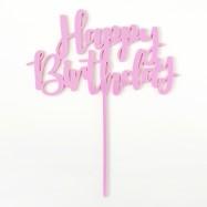 Happy Birthday - caketopper rosa